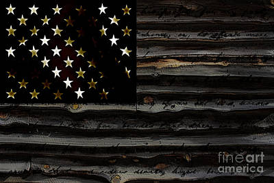 Mixed Media - American Flag by Marvin Blaine