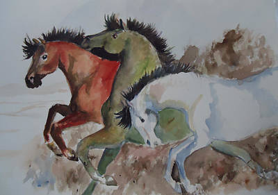 Painting - 3 Amigos by Charme Curtin
