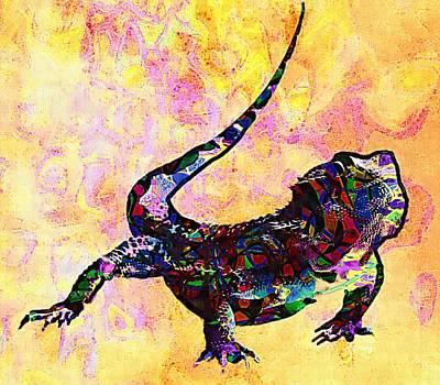 Salamanders Digital Art - Amphibian by Elena Kosvincheva