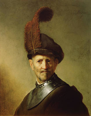 Dutch Painting - An Old Man In Military Costume by Rembrandt van Rijn