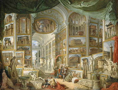 Giovanni Paolo Panini Painting - Ancient Rome by Giovanni Paolo Panini
