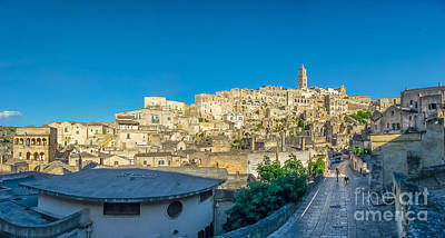 Basilicata Photograph - Ancient Town Of Matera, Basilicata, Italy by JR Photography