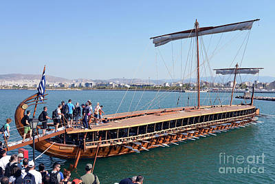 Wooden Photograph - Ancient Trireme by George Atsametakis