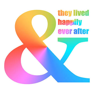 Digital Art - And They Lived Happily Ever After by Donna Cervelli