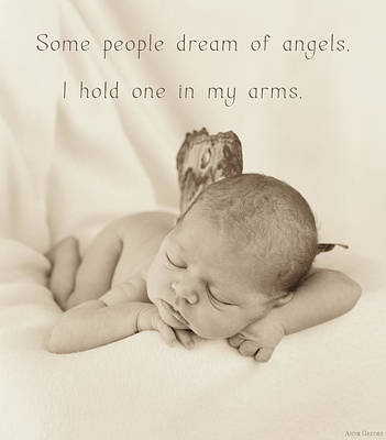 Print featuring the photograph Angels by Anne Geddes