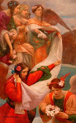 Painting - Angels Descending by Rupert Bunny