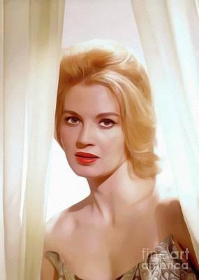 Painting - Angie Dickinson, Vintage Movie Star by John Springfield