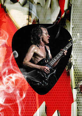Mixed Media - Angus Young Ac Dc by Marvin Blaine