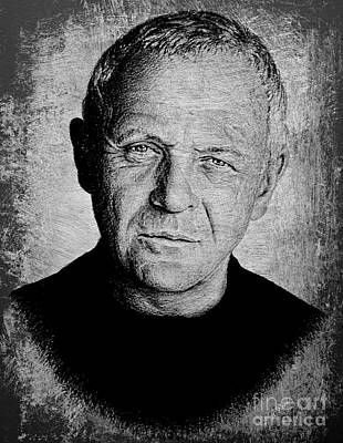 Personalities Drawing - Anthony Hopkins by Andrew Read