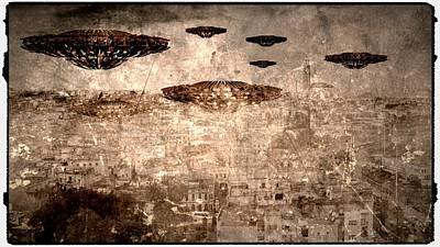 Antique Aliens By Raphael Terra Art Print