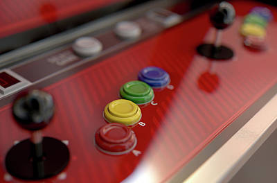 Steer Digital Art - Arcade Control Panel  by Allan Swart