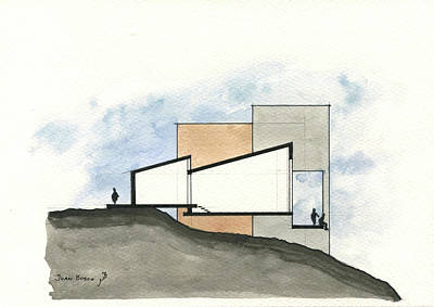 Technical Painting - Architectural Drawing by Juan Bosco