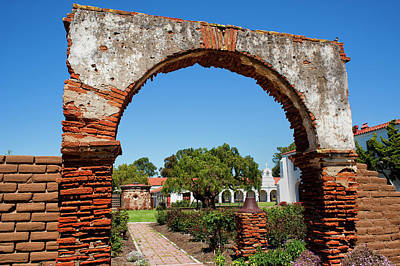 Mission San Luis Rey Photograph - Archway by Stephen Campbell