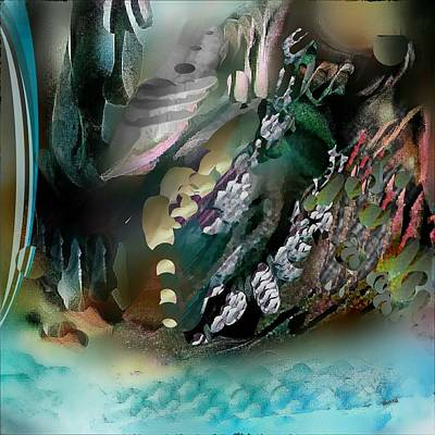 Art Print featuring the pastel Art Abstract by Sheila Mcdonald