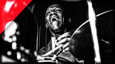 Art Blakey Collection Art Print by Marvin Blaine