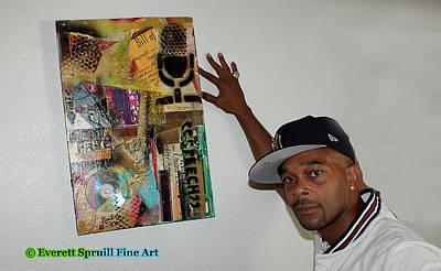 Mixed Media - Art Collector by Everett Spruill