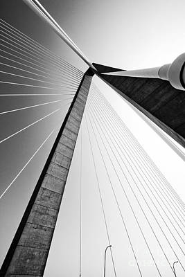 Coopers Photograph - Arthur Ravenel Jr Bridge Charleston Sc Cooper River by Dustin K Ryan