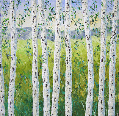 Aspen Trees Colorado Art Print by Frederic Payet