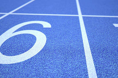 Racetrack Digital Art - Athletics Track Startline by Allan Swart