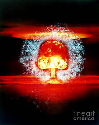 Apocalyptic Digital Art - Atomic Mushroom Explosion  by Humorous Quotes