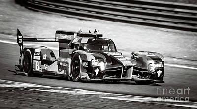 Audi R18 E-tron Quattro Le Mans Prototype Race Car Art Print by Sjoerd Van der Wal