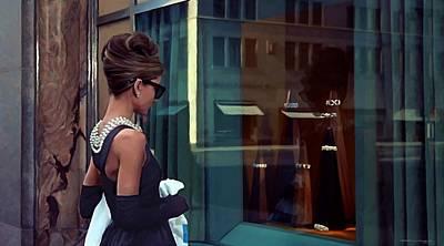 Digital Art - Audrey Hepburn @ Breakfast At Tiffanys by Gabriel T Toro