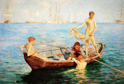 Painting - August Blue by H Tuke