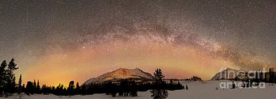 Photograph - Aurora Borealis And Milky Way by Joseph Bradley