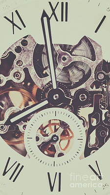 Automatic Men Watch With Visible Mechanism Art Print by Radu Bercan