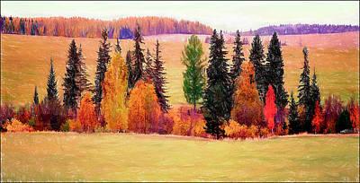 Autumn Landscape Art Print by Vladimir Kholostykh