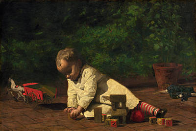 Painting - Baby At Play by Thomas Eakins