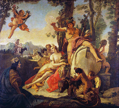 Painting - Bacchus And Ariadne by Giovanni Battista Tiepolo