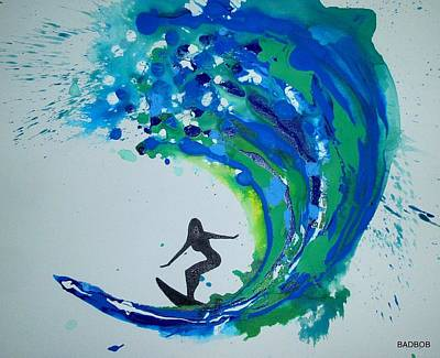 Painting - Badwave by Robert Francis