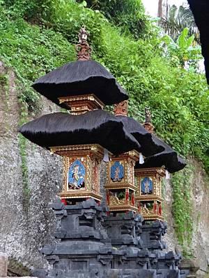 Exploramum Photograph - 3 Bali Shrines by Exploramum Exploramum