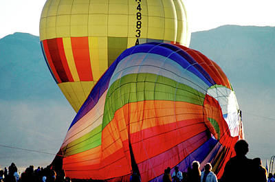 Photograph - Balloon Inflation In Albuquerque by Carl Purcell
