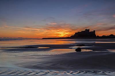 Photograph - Bamburgh Castle Sunrise by David Pringle