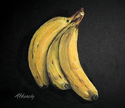 Painting - 3 Bananas by Marna Edwards Flavell