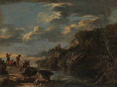 Painting - Bandits On A Rocky Coast by Salvator Rosa