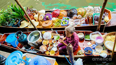 Photograph - Bangkok's Floating Market by Rene Triay Photography