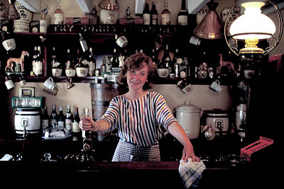 Photograph - Bar Maid At Durty Nellys In Ireland by Carl Purcell
