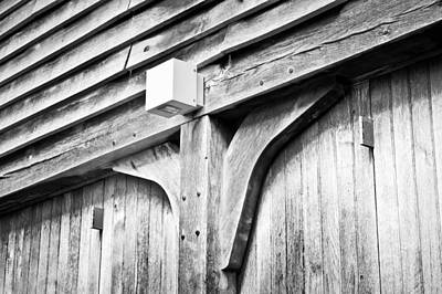 Cabin Wall Photograph - Barn Detail by Tom Gowanlock