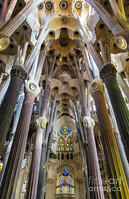 Antoni Gaudi Wall Art - Photograph - Basilica Sagrada Familia by John Greim