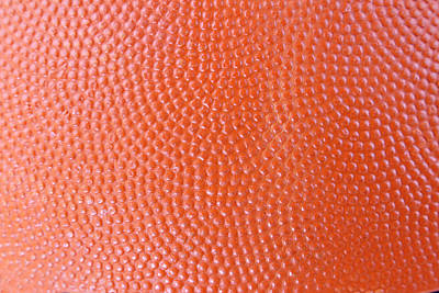 Basketball Texture Art Print by Les Cunliffe