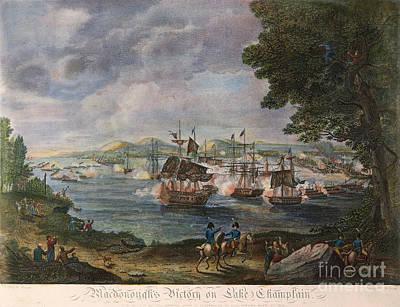 Battle Of Lake Champlain Print by Granger