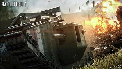 Transportation Digital Art - Battlefield 1 by Super Lovely