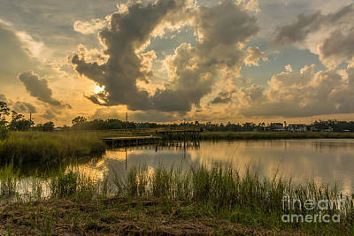Photograph - Bayou Sunset by Brian Wright
