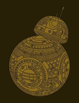 Bb8 Droid - Star Wars Art, Brown Art Print