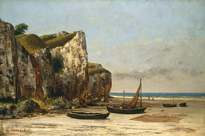 Painting - Beach In Normandy by Gustave Courbet