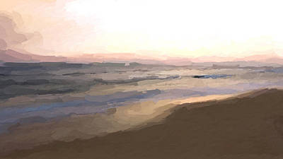 Mixed Media - Beach Sunrise by Anthony Fishburne