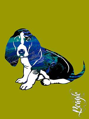 Puppy Mixed Media - Beagle Collection by Marvin Blaine